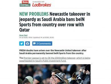 Photo of إيقاف beIN SPORTS في السعودية يُهدّد صفقة نيوكاسل