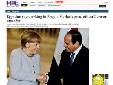 Photo of جاسوس مصري في مكتب ميركل