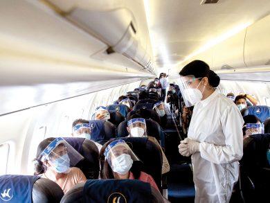 Photo of مخاطر انتقال العدوى خلال السفر بالطائرة أقل من المتوقع