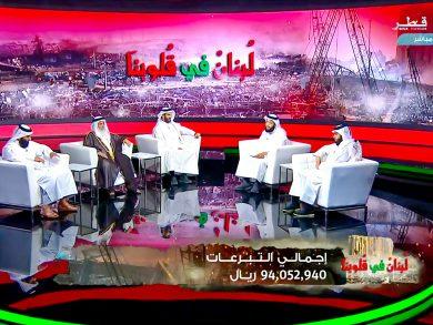 Photo of 94 مليون ريال هدية أهل قطر للشعب اللبناني