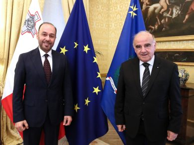 Photo of رئيس جمهورية مالطا يستقبل القائم بالأعمال بالإنابة القطري