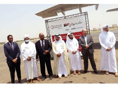 Photo of وصول طائرة مُساعدات قطرية ثالثة للخرطوم