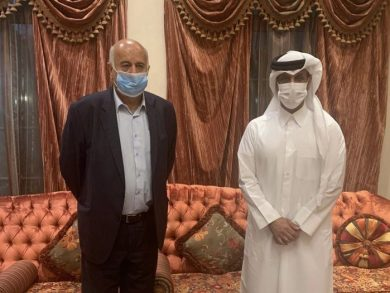 Photo of رئيس الاتحاد القطري لكرة القدم يجتمع مع نظيره الفلسطيني