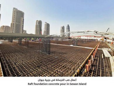 Photo of «جيوان» تشهد أحد أكبر عمليات الصبّ الخرساني في قطر