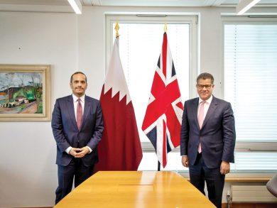 Photo of نائب رئيس الوزراء يجتمع مع وزير الدولة للشؤون التجارية والطاقة البريطاني