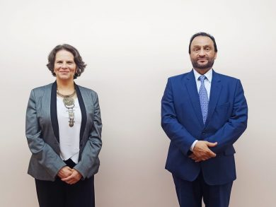 Photo of وزيرة الثقافة والشباب في جمهورية كوستاريكا تجتمع مع سفير دولة قطر