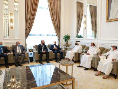 Photo of نائب رئيس مجلس الوزراء وزير الخارجية يجتمع مع وزيري الخارجية والداخلية الليبيين