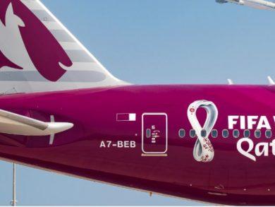 Photo of الخطوط الجوية القطرية تكشف النقاب عن الطائرة الأولى المخصّصة لبطولة كأس العالم لكرة القدم 'فيفا' – قطر 2022