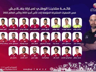 Photo of 23 لاعباً بقائمة العنابي لمباراة بنغلادش