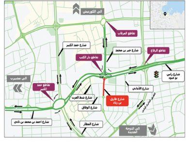 Photo of إغلاق مروري لجزء من شارع طارق بن زياد