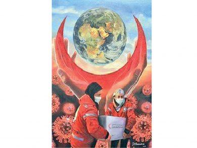 Photo of «الهلال يرسم الأمل» بـ «الفنون البصرية»
