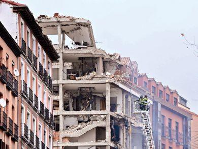 Photo of انهيار مبنى في مدريد بسبب انفجار للغاز