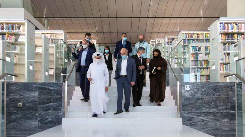 Photo of رئيس مكتبة قطر الوطنية يجتمع مع نائب وزير خارجية أوزبكستان
