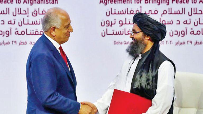 Photo of واشنطن وطالبان تجدّدان التزامهما باتفاق الدوحة لسلام أفغانستان