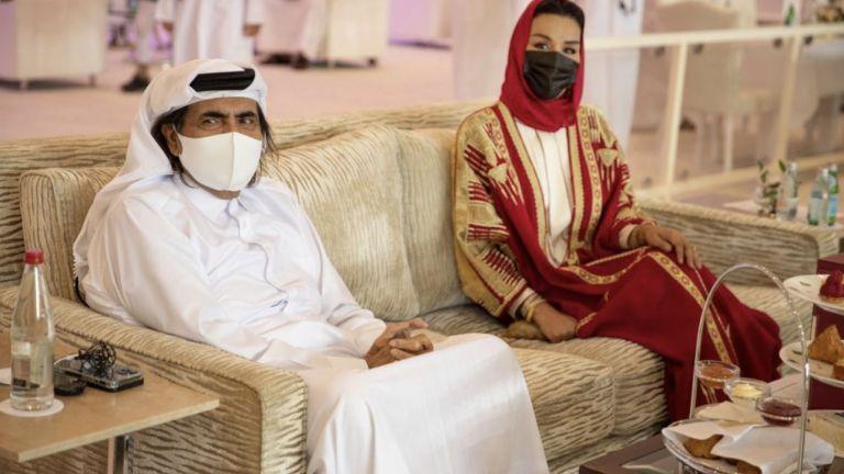 Photo of صاحبا السمو الأمير الوالد والشيخة موزا يشهدان نهائي بطولة لونجين العالمية
